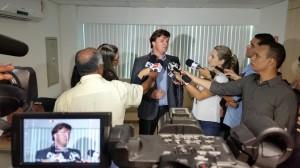 O presidente da Cesan, Pablo Andreão, reforçou o alerta para a economia de água.