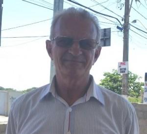 Valter Rocon,  antigo morador da Ponta da Fruta.