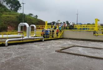 A Estação de Tratamento de Esgoto Bandeirante tem capacidade de 250 litros por segundo e trata quase todo o esgoto do município de Cariacica