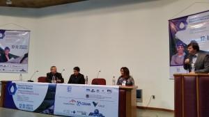 O presidente da Cesan, Pablo Andreão, participou da abertura do evento.