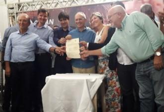 Assinatura da Ordem de Serviço para obras em Meaípe.